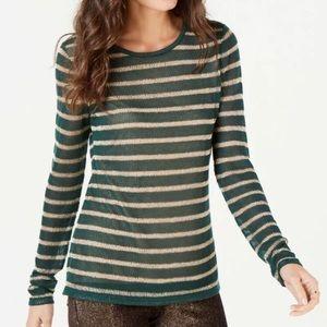 Michael Michael Kors Green & Gold Striped Sweater